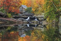 Grist Mill In The Fall Fine-Art Print