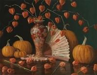 Chinese Lanterns Pumpkin And Fan Fine-Art Print