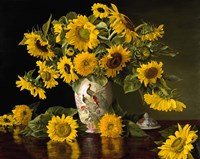 Sunflowers in a Chinese Peacock Vase Fine-Art Print