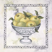 Green Apples In A Silver Bowl Fine-Art Print