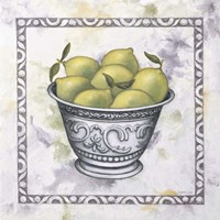 Limes In A Silver Bowl Fine-Art Print