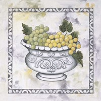 Green Grapes In A Silver Bowl Fine-Art Print