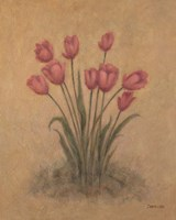 Bunch of Red Tulips Fine-Art Print