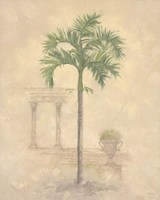 Palm With Architecture 1 Fine-Art Print