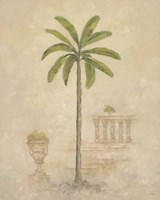 Palm With Architecture 3 Fine-Art Print