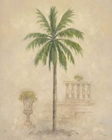 Palm With Architecture 4 Fine-Art Print