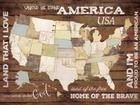 Land That I Love USA Map Fine-Art Print