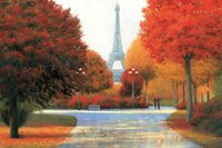 Autumn in Paris Couple Fine-Art Print