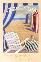 Beach Club Cabanas Fine-Art Print