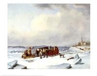 Ice Bridge At Longue Fine-Art Print