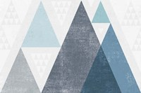 Mod Triangles I Blue Fine-Art Print