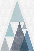 Mod Triangles III Blue Fine-Art Print