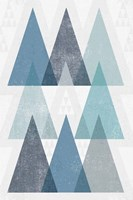 Mod Triangles IV Blue Fine-Art Print