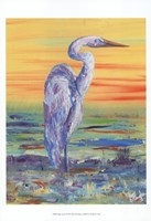 Egret Sunset I Fine-Art Print