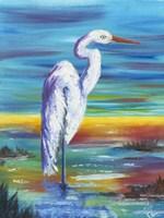 Yellow Heron I Fine-Art Print
