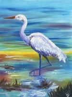 Yellow Heron II Fine-Art Print
