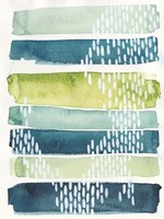 Aqua Streak I Fine-Art Print