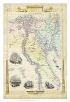 Vintage Map of Egypt Fine-Art Print
