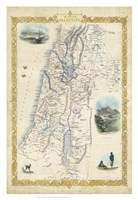 Vintage Map of Palestine Fine-Art Print