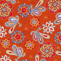 Orange Paisley Fine-Art Print