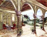 Golden Villa By The Sea Fine-Art Print