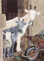Three Goats and a Wheelbarrow Fine-Art Print