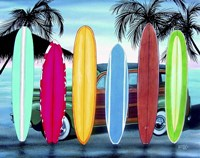 Woody & Surfboards Fine-Art Print