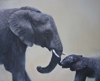 Ele and Baby Mara Fine-Art Print