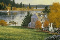 Autumn Lake House Fine-Art Print