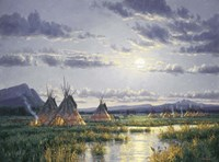 Moonlit Encampment Fine-Art Print