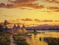 Northern Blackfoot Hunters Camp Fine-Art Print