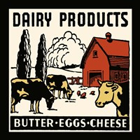 Dairy Product-Butter, Eggs, Cheese Fine-Art Print