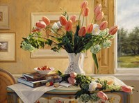 French Tulips and Crab Apples Fine-Art Print
