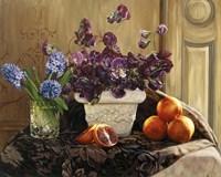 Sweet Peas And Blood Orange. Fine-Art Print