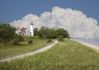 Pointoquois Lighthouse, Bay Mills, Michigan 08 Fine-Art Print