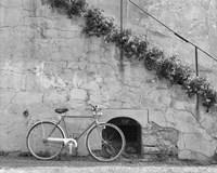 Bicycle & Cracked Wall, Einsiedeln, Switzerland 04 Fine-Art Print