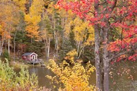 Boathouse In Autumn, Marquette, Michigan 12 Fine-Art Print