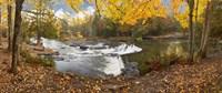 Bond Falls In Autumn Panorama #2, Bruce Crossing, Michigan 12 Fine-Art Print
