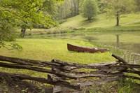Canoe & Fence Fine-Art Print