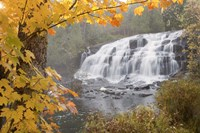 Lower Bond Falls In Autumn #2, Bruce Crossing, MI 11 Fine-Art Print