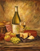 Tuscany Table With Cheese Fine-Art Print