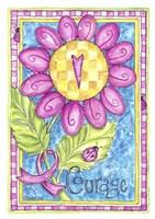 Breast Cancer Awareness: Courage Flower Fine-Art Print