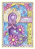 Breast Cancer Awareness: Strength Angel Fine-Art Print