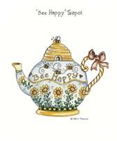 Bee Happy Teapot Fine-Art Print