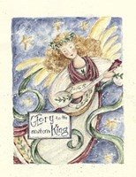 Angel With Guitar Glory To The King Fine-Art Print