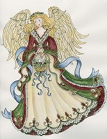 Angel With Basket And Dove Fine-Art Print