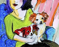 Lady with Her Lap Dogs Fine-Art Print