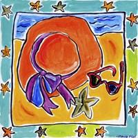 Beach Hat, Sunglasses, Starfish Fine-Art Print