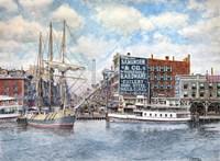 Detroit Water Front 1896 Fine-Art Print