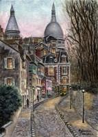 Monmartre Rue de l' Abreuvoir from Placed Dalida Fine-Art Print